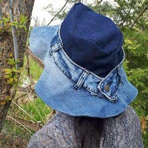Reclaimed denim hat
